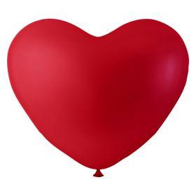 Ballonger, hjerte rød, 6 pk