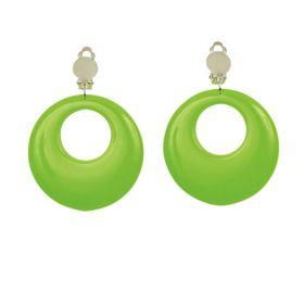 Neon grønne klipsøreringer