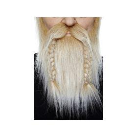 Blondt Viking skjegg & Bart med fletter