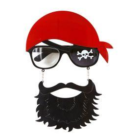 Piratbriller med skjegg