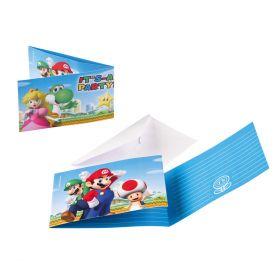 Super Mario Invitasjoner, 8 stk