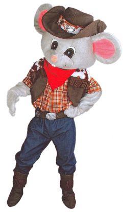 Cowboymus, maskotdrakt