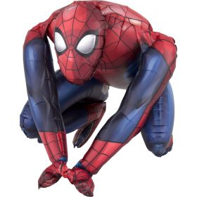 Folieballong, Sittende Spiderman, 38 cm