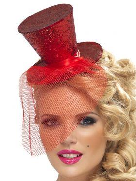 Flosshatt på bøyle, rød
