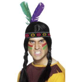 Indianerhårbånd med 2 fjær