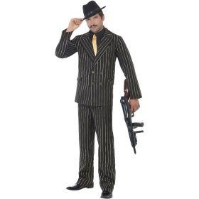 Gullstripete Gangster kostyme