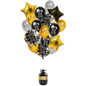 Heliumtank med ballonger Happy New Year