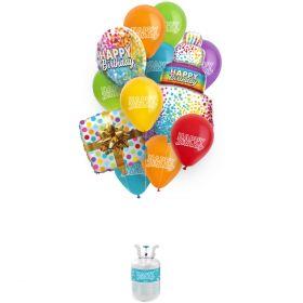 Ballongbukett Happy Birthday