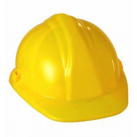 Bilde av en gul arbeidshjelm