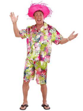 Hawaiiskjorte og shorts
