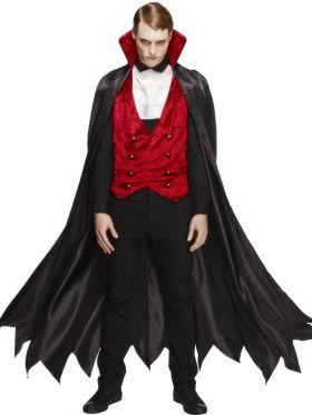 Vampyrkostyme med langkappe