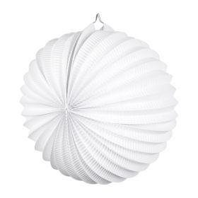 Hvit rund papirlykt
