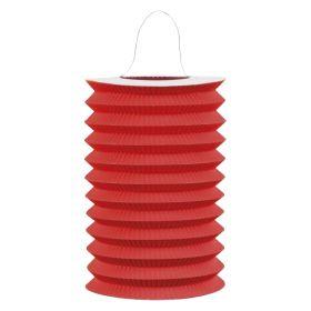 Rød sylinder papirlykt