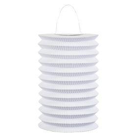 Hvit sylinder papirlykt