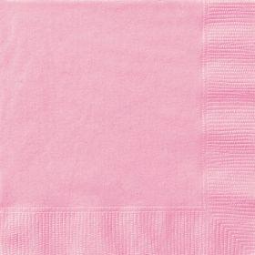 Lyserosa servietter, små, 20 stk.