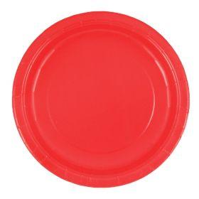 Røde tallerkener, 16 stk.