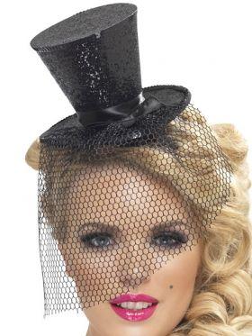Flosshatt på bøyle, sort