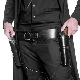Revolverbelte med 2 tasker, sort