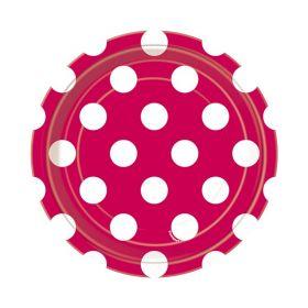 Rød med prikker, 8 asjetter