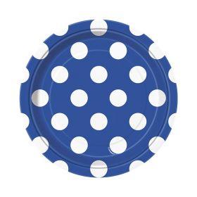 Blå med prikker, 8 asjetter