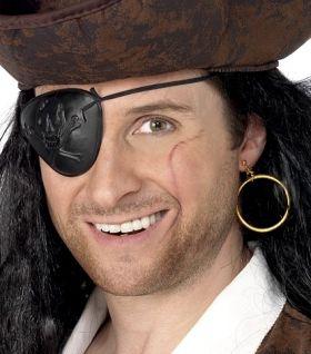 Pirat øyelapp & ørering