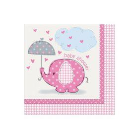 Umbrellaphants Pink, 16 servietter