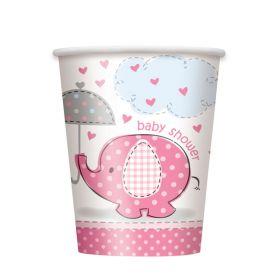 Umbrellaphants Pink, 8 pappkrus