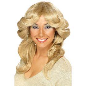 Blond 70's Flick parykk