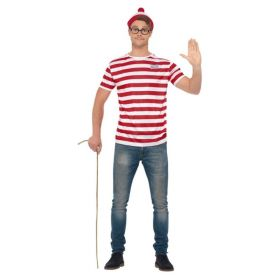 Where's Wally Kit, T-skjorte, briller og lue