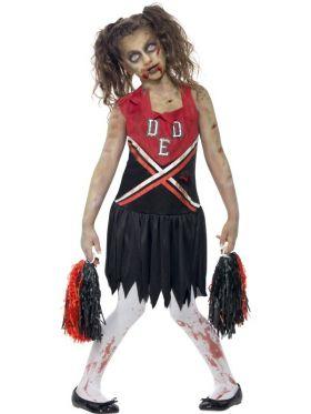 Zombie Cheerleader-kostyme til barn