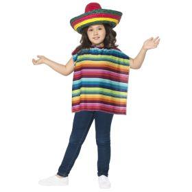 Sombrero og Poncho til barn