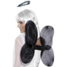 Fe-vinger og glorie, sort