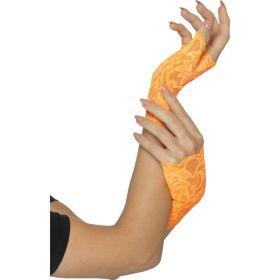 Neon oransje blondehansker