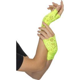 Neon grønne blondehansker