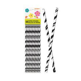 Papirsugerør, zebrastriper
