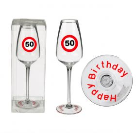 Champagne glass, Happy Birthday 50