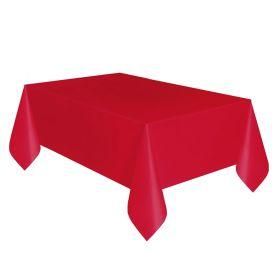 Rød plastduk