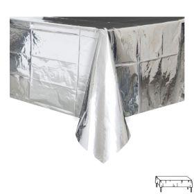 Sølv metallisk plastduk