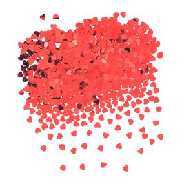 Rød Hjertekonfetti