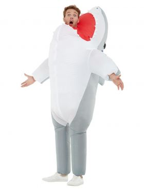 Oppblåsbar Hai Kostyme, voksen
