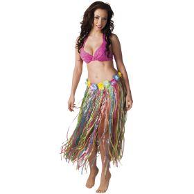 Hawaiiskjørt, flerfarget, 80 cm