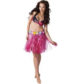 Hawaiiskjørt, rosa 45 cm