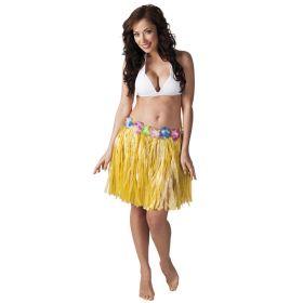 Hawaiiskjørt, gul 45 cm