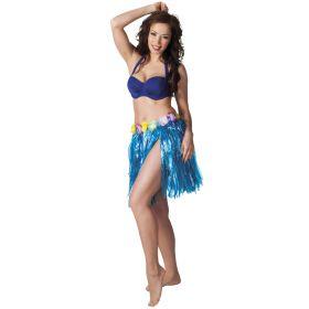 Hawaiiskjørt, blå 45 cm