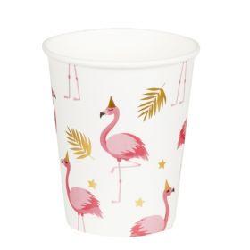 Flamingo kopper, 6 stk.