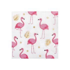 Flamingo servietter, 12 stk.