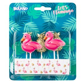 Kakelys Flamingo og Ananas 5 stk