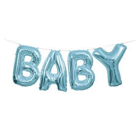 Baby lyseblå folieballong banner