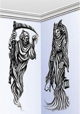 Grim Reaper Veggdekor i Plast 2 stk