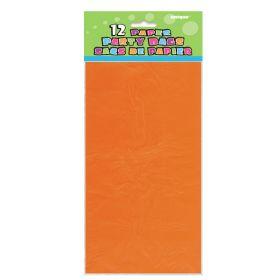 Papirposer Oransje, 12 stk.
